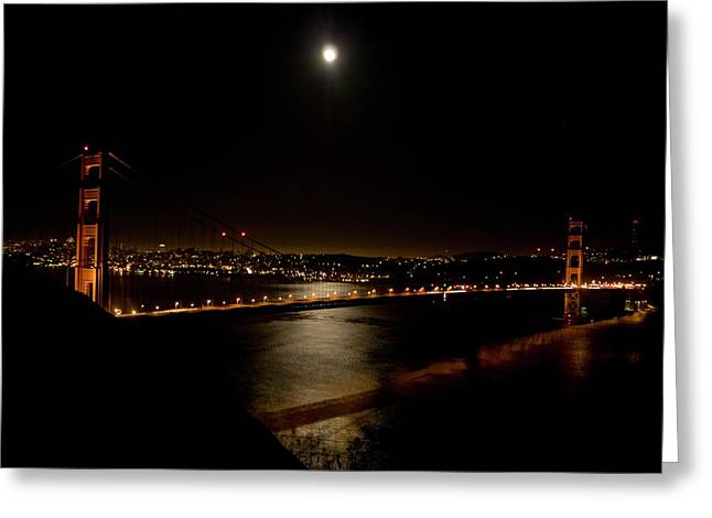 Full Moon Rising Greeting Card by Bill Gallagher