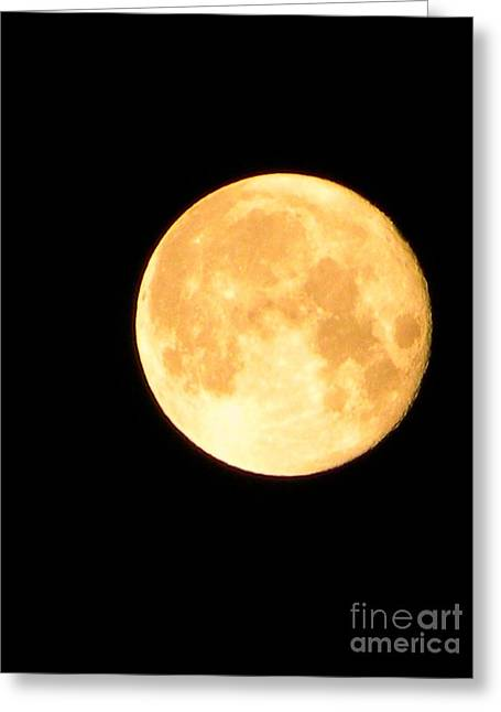 Full Moon Saturday Night Greeting Card