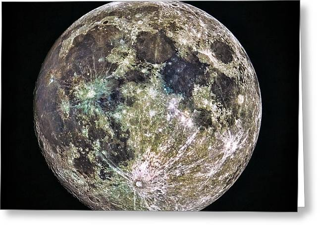 Full Moon Greeting Card by Todd Ryburn