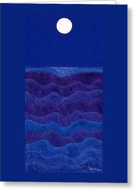 Full Moonscape II Greeting Card by Synthia SAINT JAMES