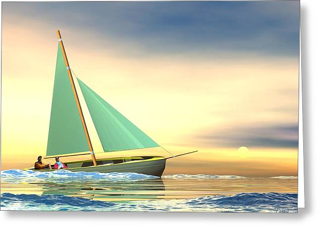 Full Sail Greeting Card by John Pangia