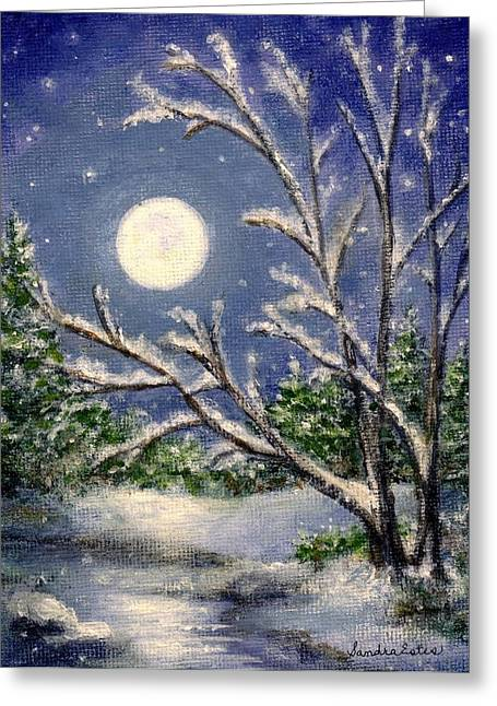 Full Snow Moon Greeting Card