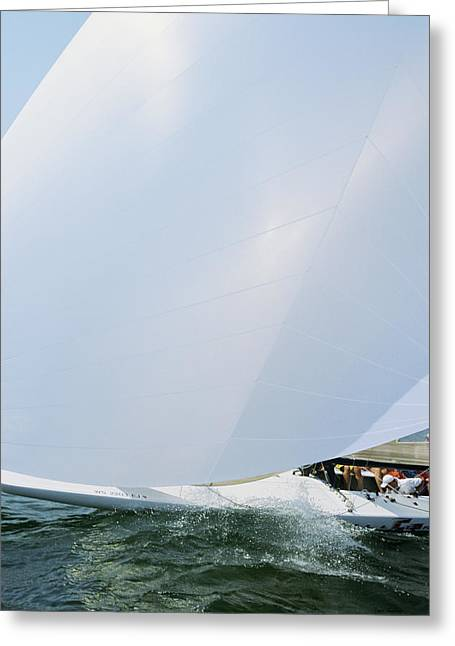 Full Spinnaker - Lake Geneva Wisconsin Greeting Card