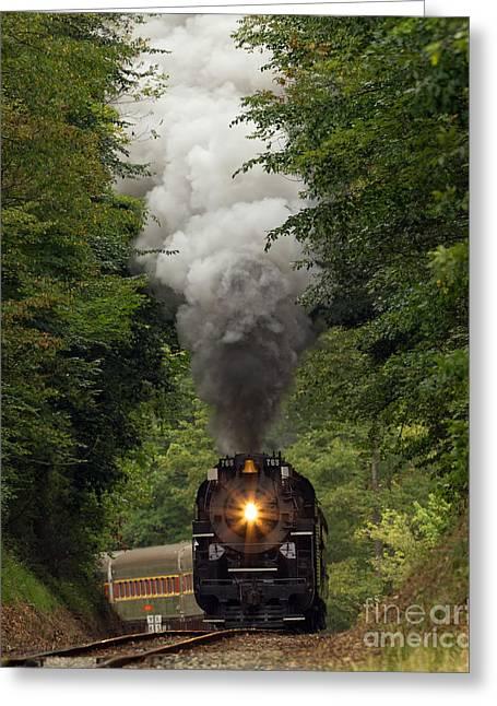 Full Steam Ahead Greeting Card by Joshua Clark
