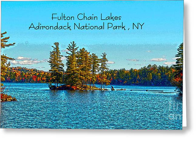 Fulton Chain Lakes  Greeting Card by Diane E Berry