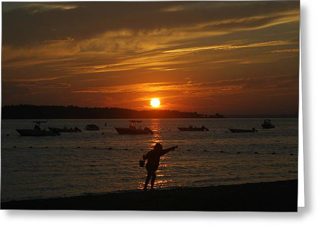 Fun At Sunset Greeting Card