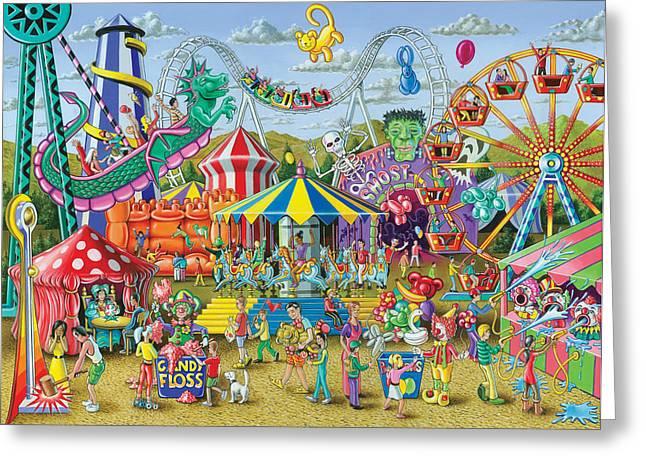 Fun At The Fairground Greeting Card