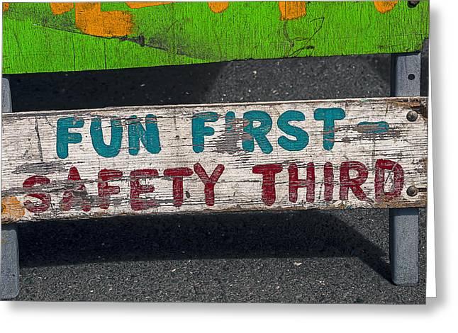 Fun First Greeting Card by Garry Gay