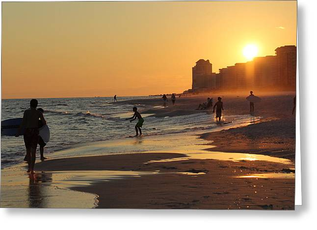 Fun In The Fading Sun Greeting Card by Tina Sessions