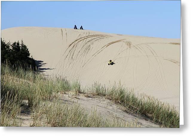 Fun Ride On Oregon Dunes Greeting Card