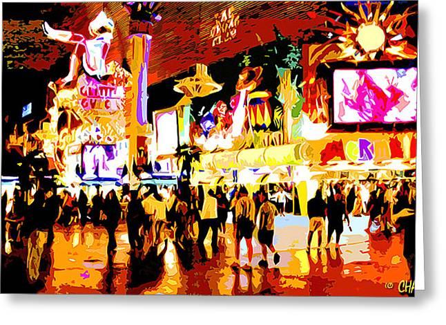 Fun Time In Old Las Vegas Greeting Card