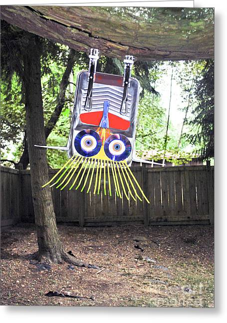 Fun To Hang Upside Down From A Tree Greeting Card