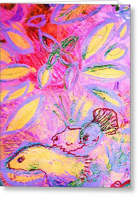 Fun With The Fishes II Greeting Card by Anne-Elizabeth Whiteway
