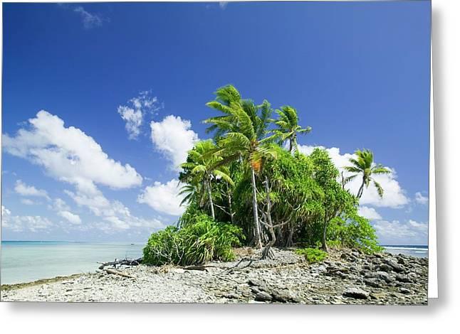 Funafuti Atol On Tuvalu Greeting Card by Ashley Cooper