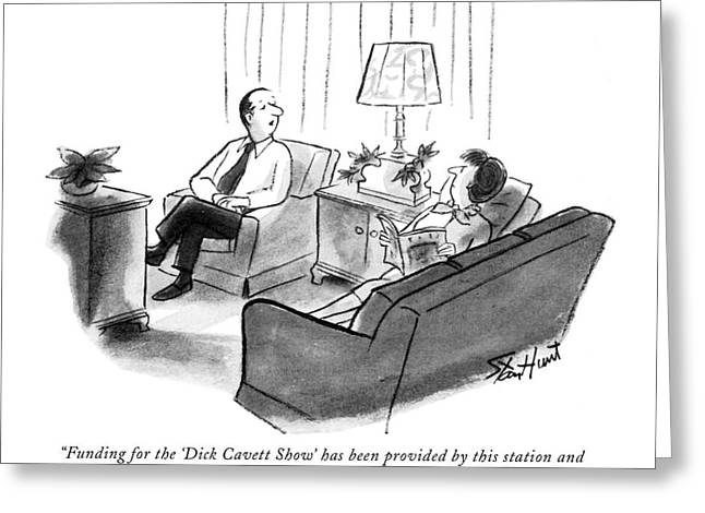 Funding For The 'dick Cavett Show' Greeting Card by Stan Hunt