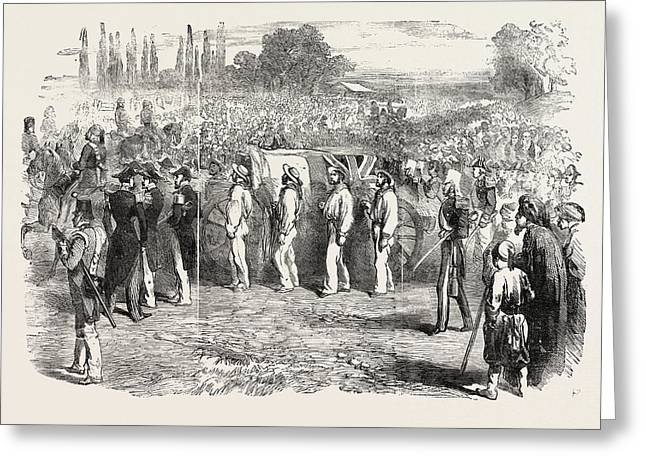 Funeral Of Captain Parker At The Champ Des Morts At Pera Greeting Card