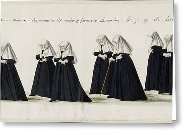 Funeral Procession Of Anne Of Cleves Greeting Card by British Library