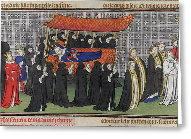 Funeral Procession Of Queen Jeanne Greeting Card