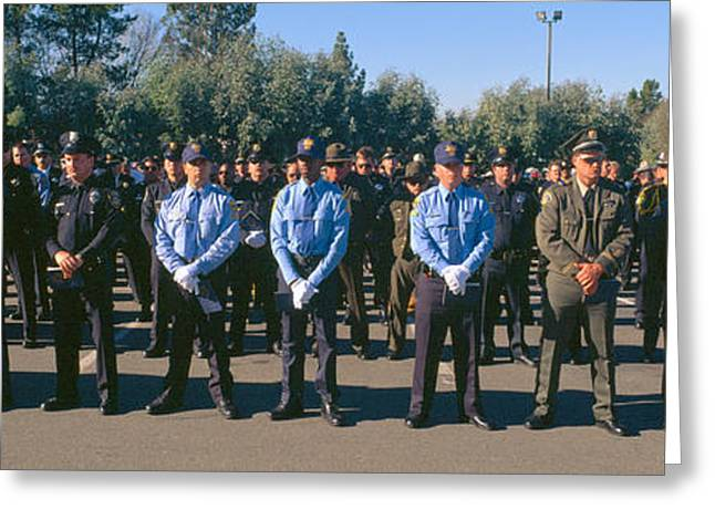 Funeral Service For Police Officer Greeting Card