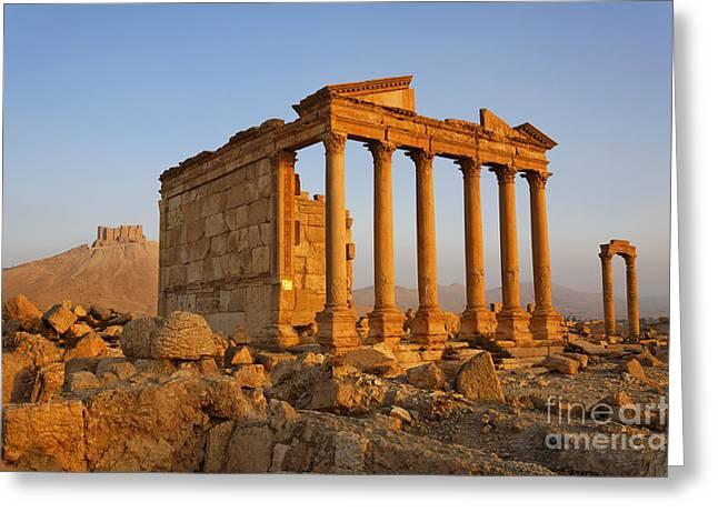 Funerary Temple At Palmyra Greeting Card by Robert Preston