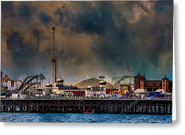 Funfair On The Pier Greeting Card by Chris Lord