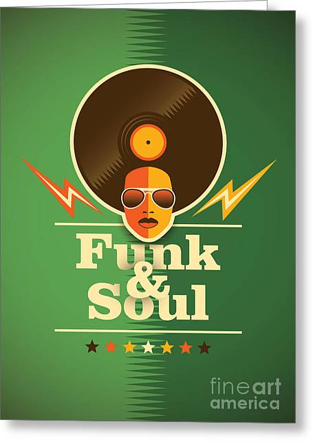 Funk And Soul Poster. Vector Greeting Card by Radoman Durkovic