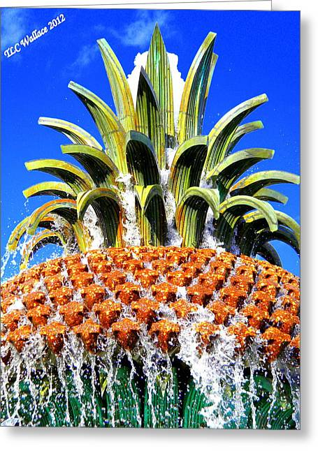Funky Fountain Greeting Card by Tammy Wallace