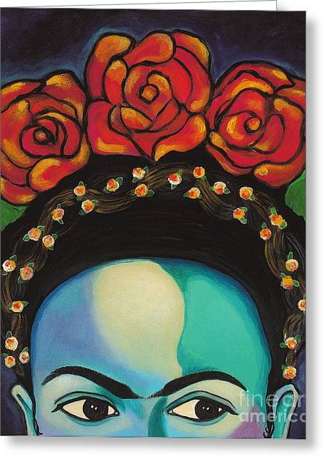 Greeting Card featuring the painting Funky Frida by Carla Bank