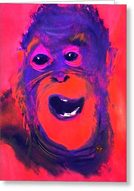 Funky Monkey Happy Chappy Greeting Card
