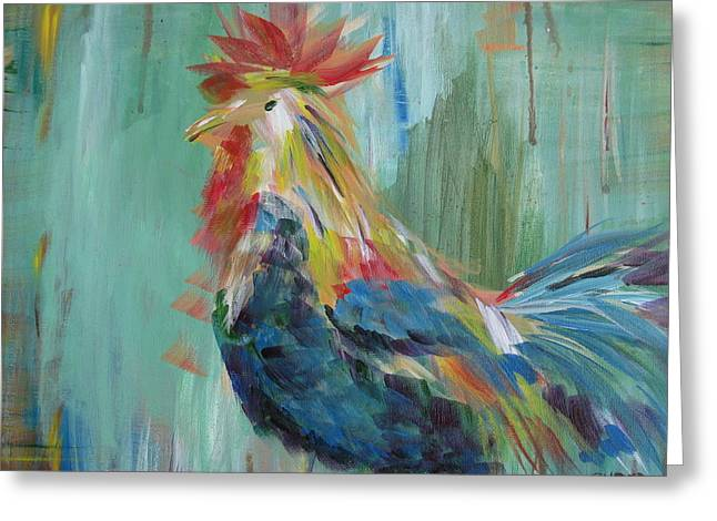Funky Rooster Greeting Card
