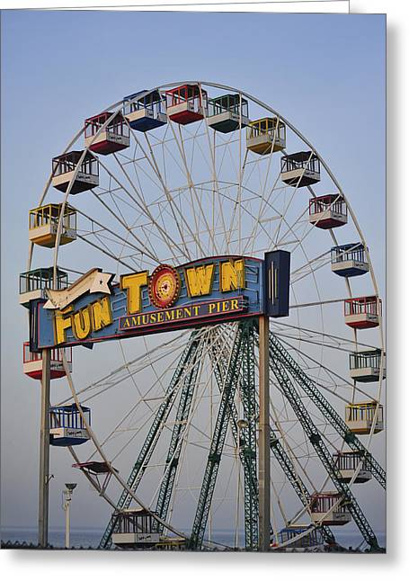 Funtown Ferris Wheel Greeting Card