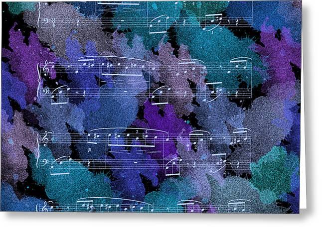 Fur Elise Music Digital Painting Greeting Card