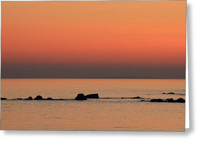 Furbo Beach Sunset Greeting Card by Peter Skelton