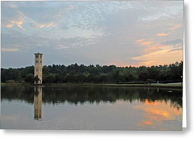 Furman University Bell Tower  Greenville Sc Greeting Card