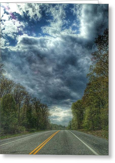 Furnace Branch Road Greeting Card by Toni Martsoukos