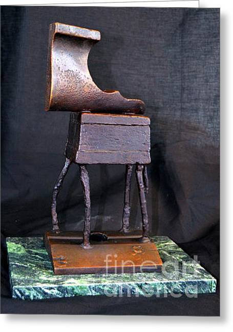 Furniture Horse Dada E Greeting Card by Charlie Spear