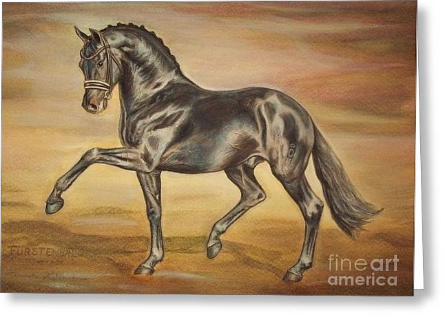Furstenball-dressage Stallone Greeting Card by Dorota Zdunska
