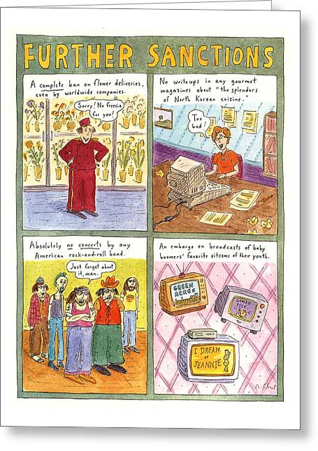 'further Sanctions' Greeting Card by Roz Chast