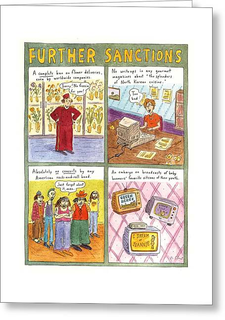 'further Sanctions' Greeting Card