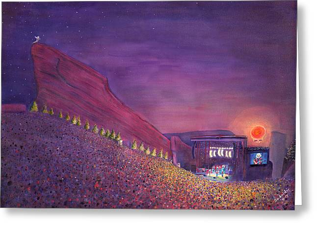 Furthur Red Rocks Equinox Greeting Card