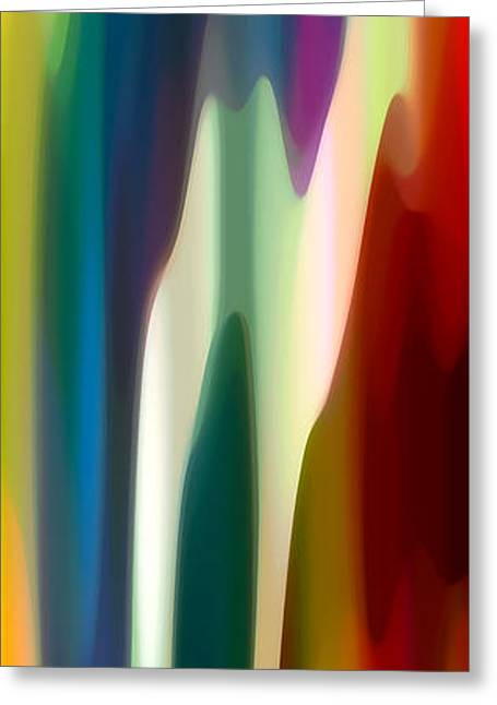 Fury Panoramic Vertical 4 Greeting Card by Amy Vangsgard