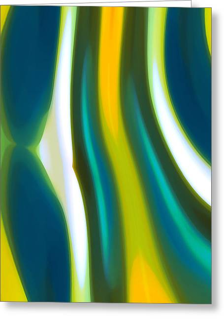 Abstract Tide 1 Greeting Card by Amy Vangsgard