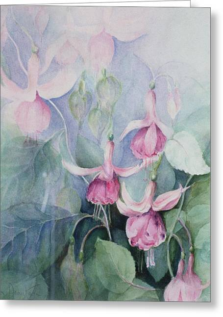 Fucshia, Pink Coachman Greeting Card by Karen Armitage