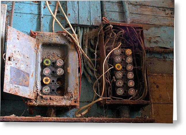 Fuse Box Greeting Card by Douglas Pike