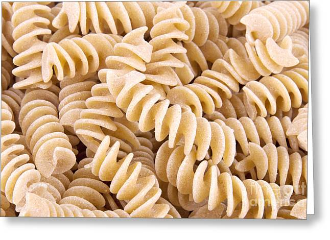 Fusilli Rotini Pasta  Greeting Card by Vizual Studio