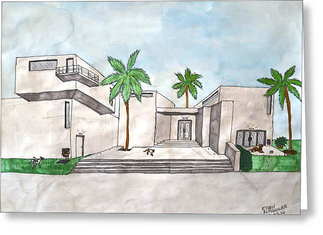 Architectural House  Greeting Card by Ethan Altshuler