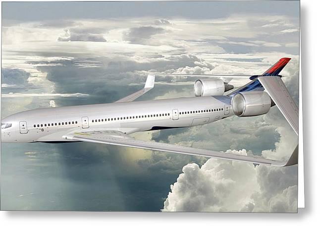 Future Hybrid Aircraft Greeting Card by Nasa/lockheed Martin