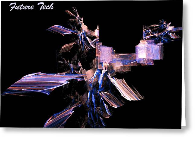 Greeting Card featuring the digital art Future Tech by R Thomas Brass