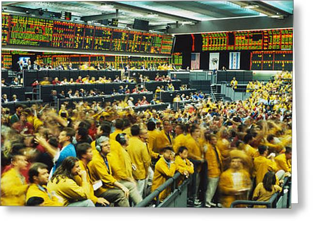 Futures And Options Traders Chicago Greeting Card by Panoramic Images