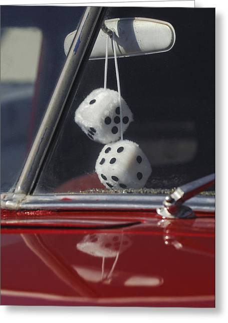 Fuzzy Dice 2 Greeting Card by Jill Reger